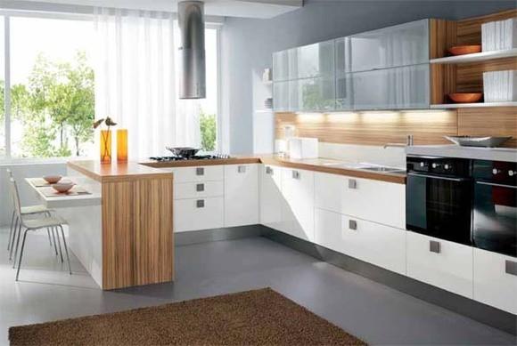 Функциональное использование угловой кухни
