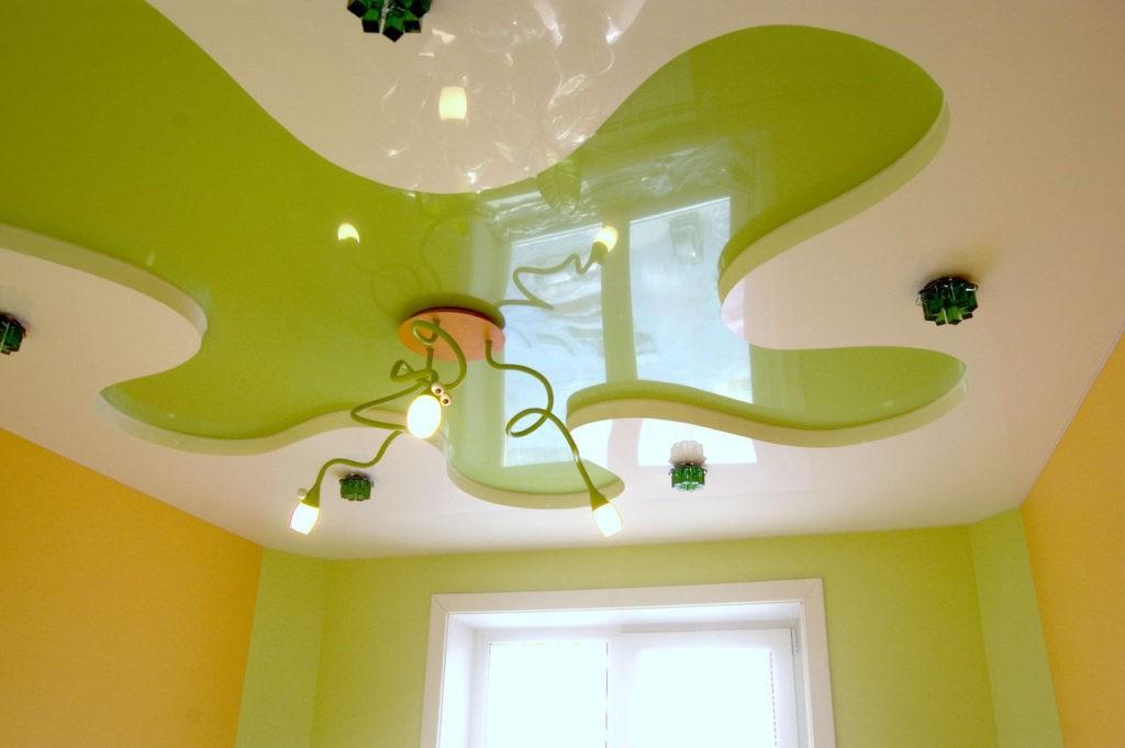 Комбинированный потолок в детской комнате