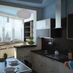 Интересный интерьер современной кухни после увеличения пространства