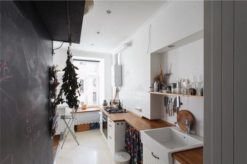 Дизайн светлой кухни в скандинавском стиле