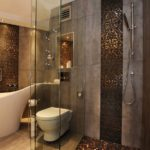 Комбинирование плитки разных видов в ванной комнате