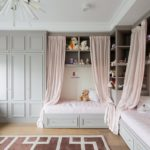 Угловое расположение детских кроватей