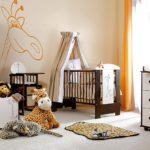 Стильная комната для ухода за новорожденным