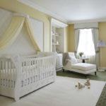Обустройство комнаты для новорожденного в стиле классики