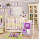 Фиолетовый цвет в оформлении комнаты для ребенка