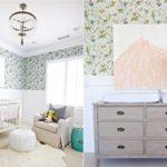 Интерьер комнаты для младенца в пастельных оттенках