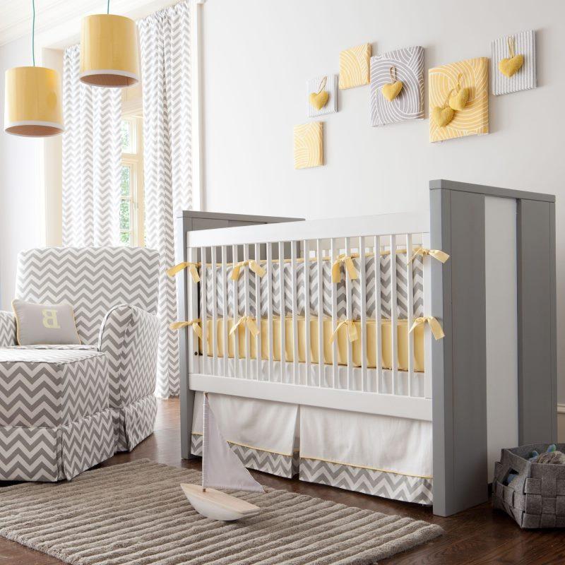 Кроватка для новорожденного в современном стиле