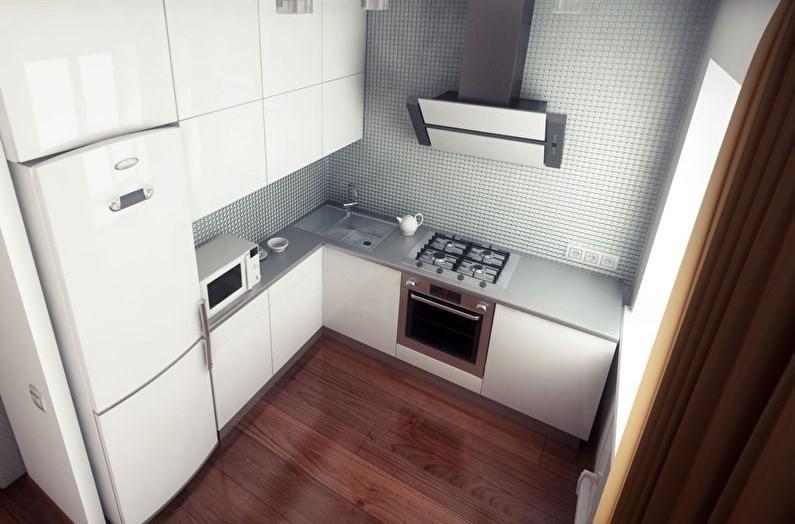 Дизайн современной кухни с глянцевыми фасадами мебельного гарнитура