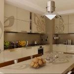 Короб контрастного цвета отлично вписался в кухонный гарнитур