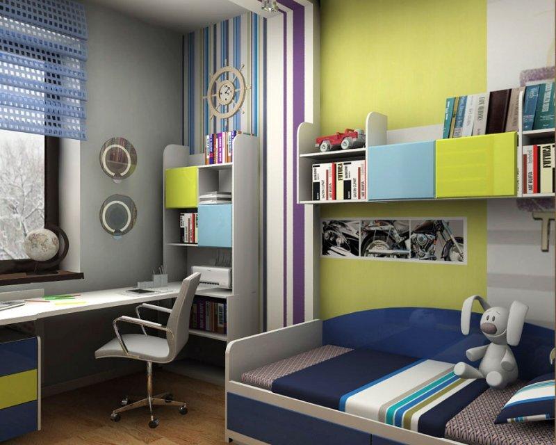 Уютный интерьер маленькой детской комнаты