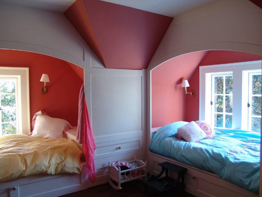 Дизайн совместной детской комнаты для мальчика и девочки