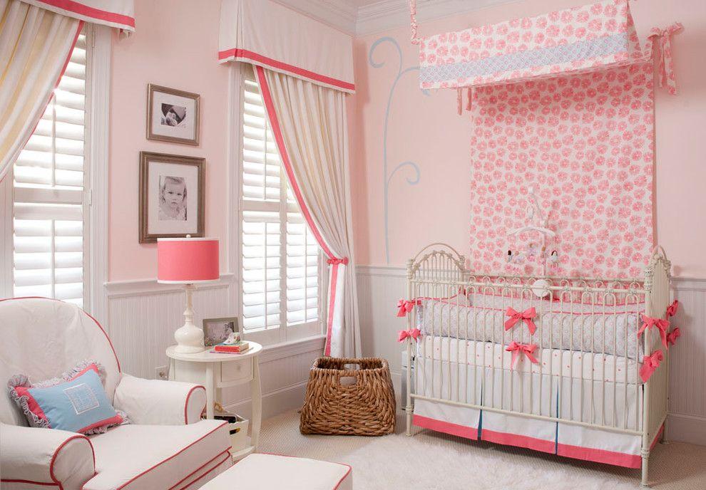 Детская комната в розовом цвете