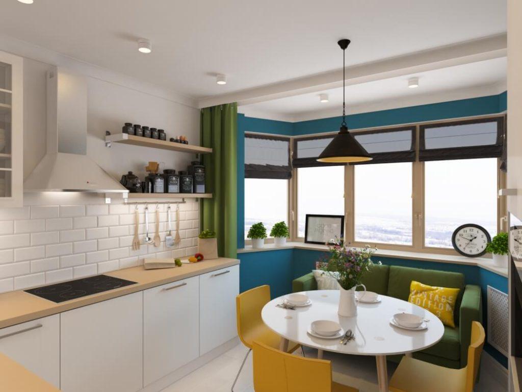 Дизайн-проект кухни с обеденным столом