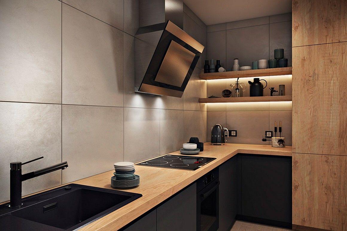 дизайн кухни без верхних шкафов 75 фото идей от дизайнеров