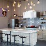 Подвесные светильники на шнурах для освещения кухни