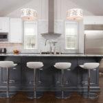 Кухонный остров серого цвета