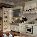 Угловая кухня в смешанном стиле