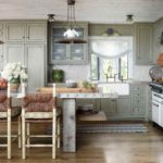 Дерево и металл в оформлении кухни частного дома