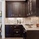 Кухня из дорогой редкой породы дерева венге