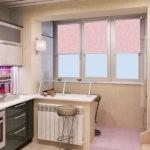 Кухня с лоджией после ремонта и переоборудования