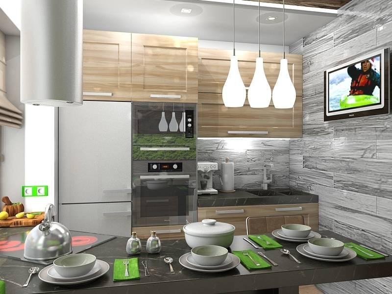 Модный дизайн кухни в эко-стиле