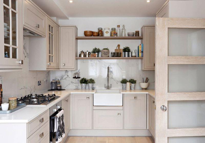 Интерьер современной кухни в пастельных тонах