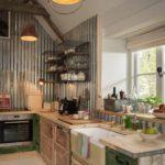 Кухня в стиле лофт из подручных материалов