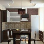 Кухонный интерьер для маленькой кухни в духе минимализма