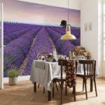 Лавандовое поле для декора кухни в стиле прованс