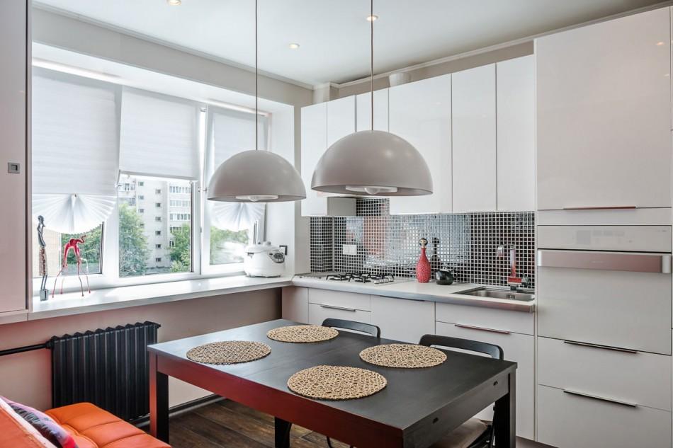 Дизайн кухни площадью в 8 кв метров с линейной планировкой
