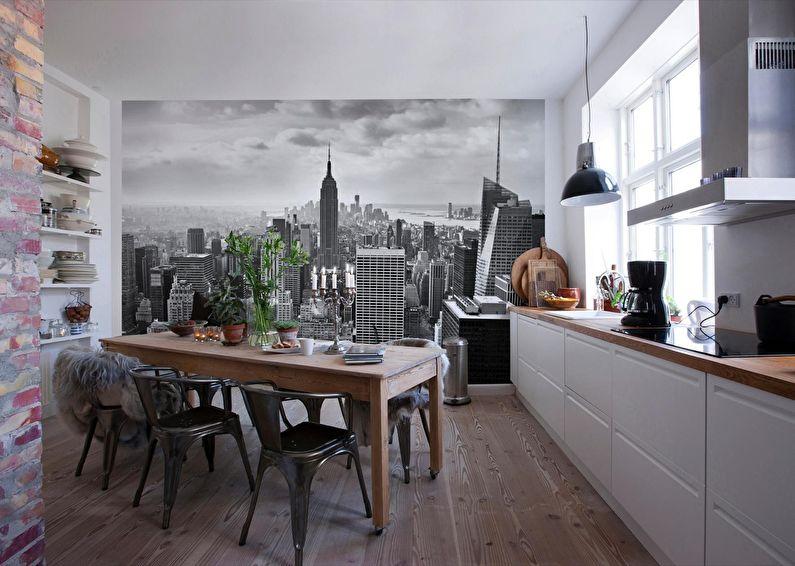 Пример однорядной планировки на кухне площадью в 10 кв метров