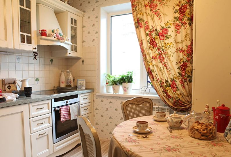 Дизайн небольшой кухни в деревенском стиле