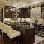 Надстройка над кухонной столешницей, оформленная как барная стойка
