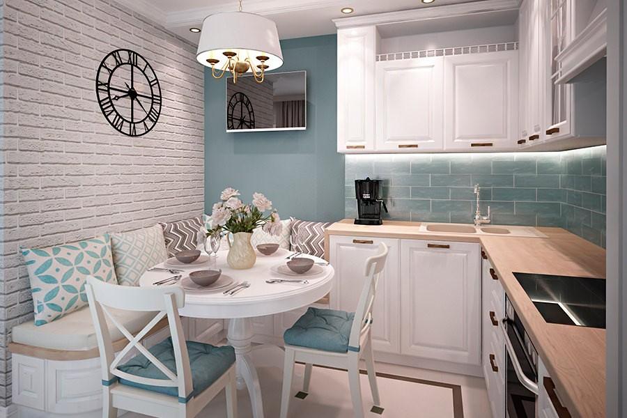 Небольшая кухня с элементами деревенского стиля
