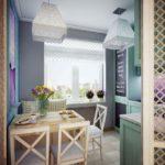 Оформление кухни в современной квартире в стиле прованс
