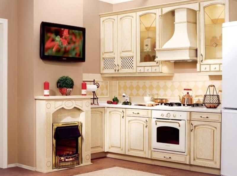 Как обыграть вентиляционный короб на кухне фото