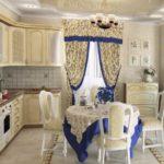 Отделка синим цветом для декора текстильных элементов в стиле прованс