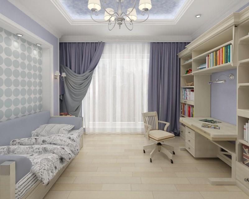 Дизайн детской комнаты в пастельных тонах