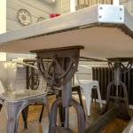Чугунные ножки обеденного стола в ретро стиле