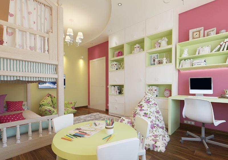 Оформление дизайна комнаты для брата и сестры
