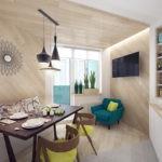 Использование дерева в интерьере кухни