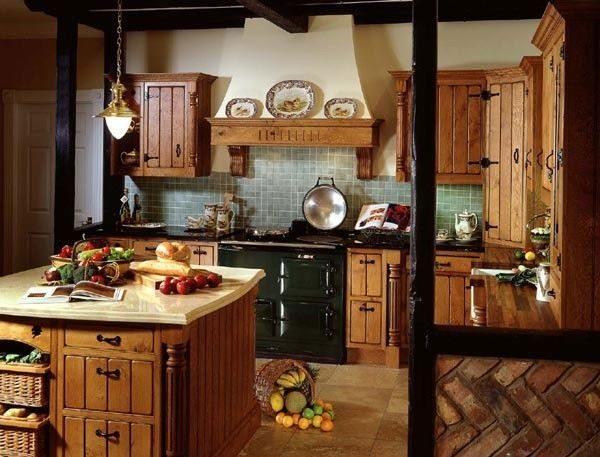 Простая и сдержанная кухня из натуральных материалов