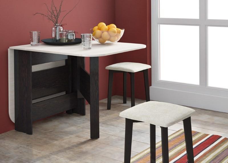 Раскладной обеденный стол для малогабаритной кухни