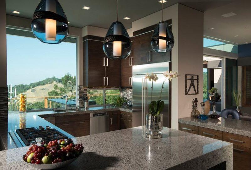 Серый цвет в дизайне кухни стиля модерн