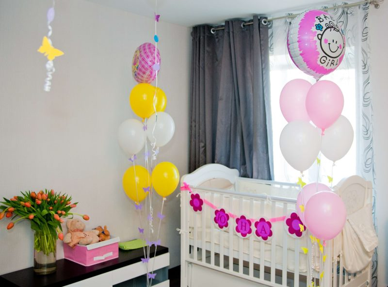 Оформление детской комнаты воздушными шарами