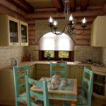 Шикарная миниатюрная кухня в дачном домике