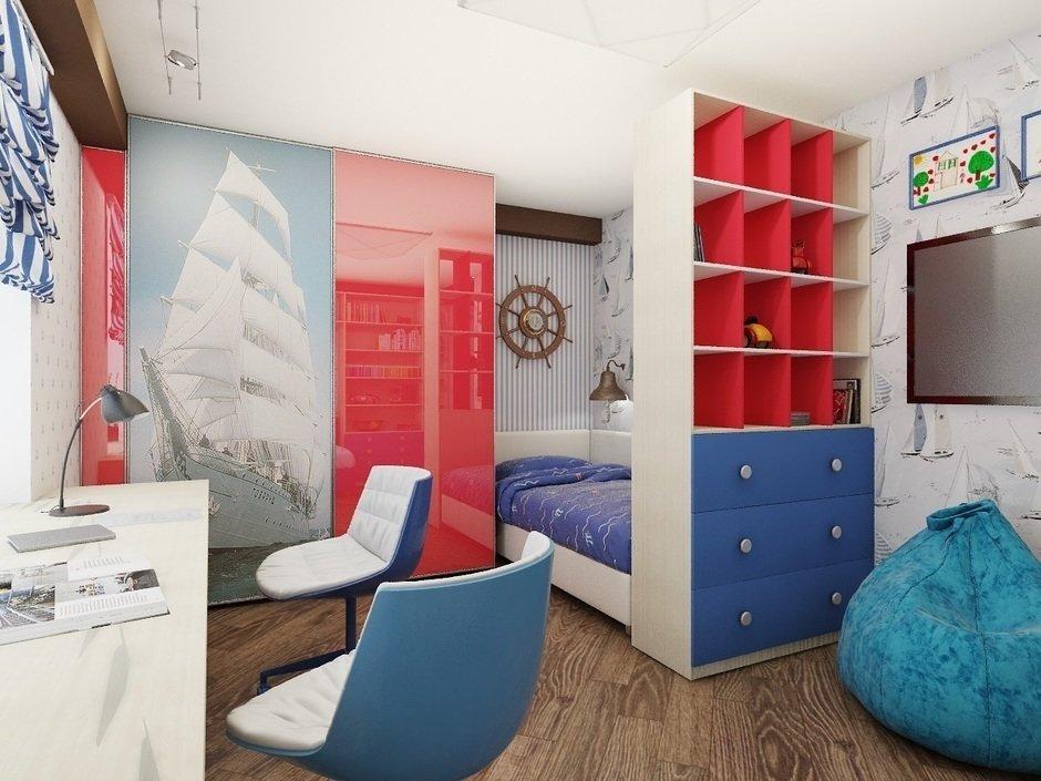 Дизайн детской комнаты в морской тематике