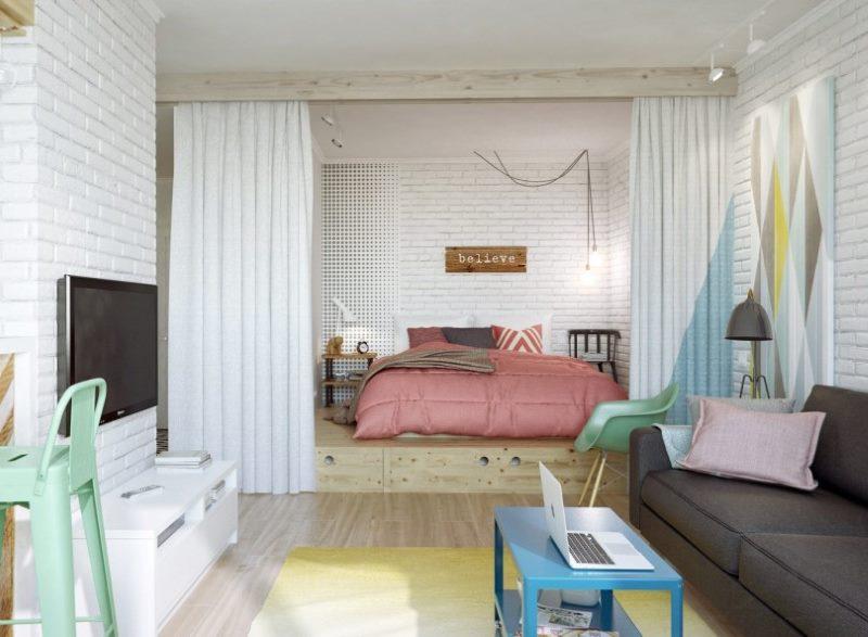 Оформление комнаты в скандинавском стиле