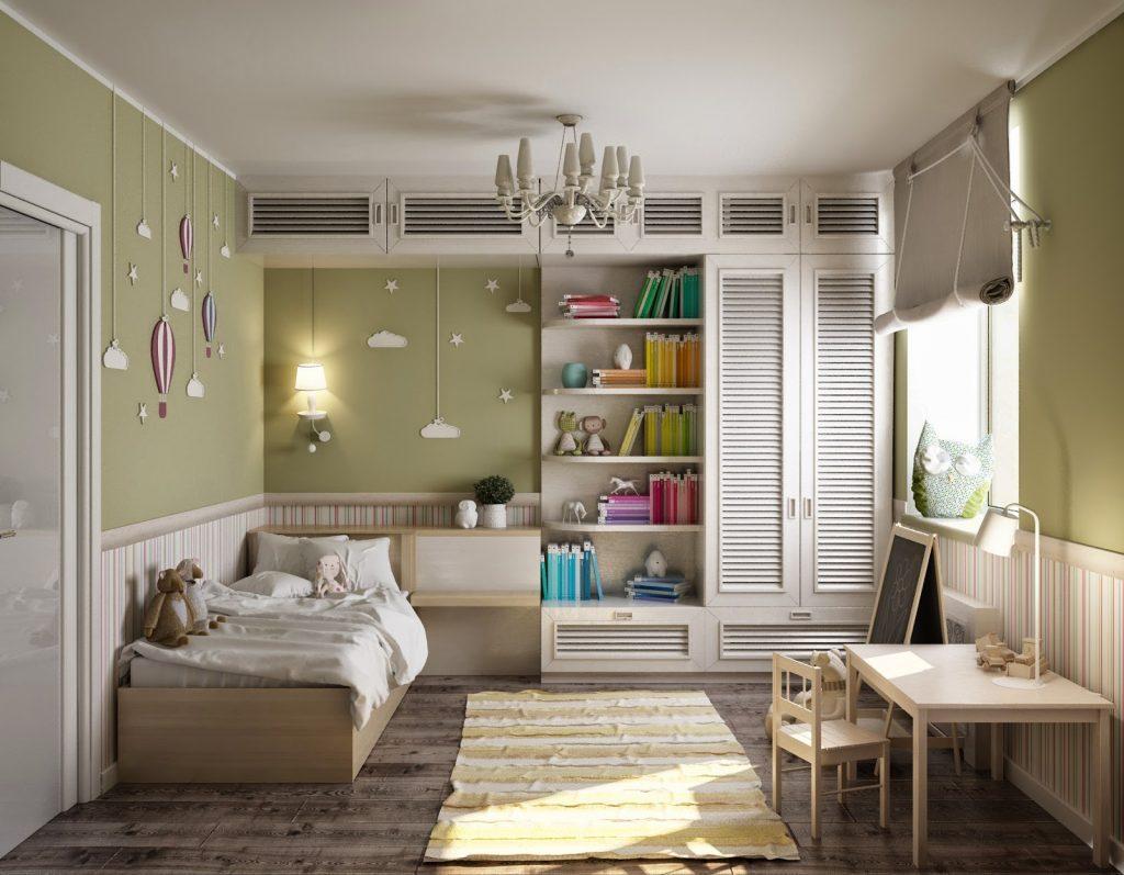 Дизайн детской комнаты площадью 12 кв метров с письменным столом