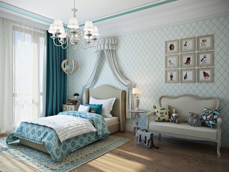 Интерьер детской спальни в стиле классики